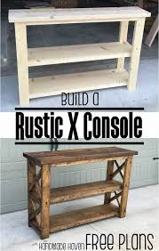 diy rustic furniture plans. Build This Easy Fun DIY Rustic X Console - Free Step By Woodworking Plans On How To Diy Furniture