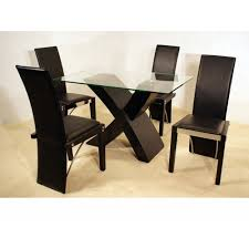 engaging small glass dining table and chairs dining room glass