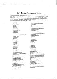 Good Words For Resume Resume Terms Resume Terms Targergolden Dragonco Resume Phrases To 9