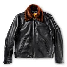 varenne fur collar black leather jacket