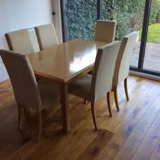 marks spencer lichfield solid oak dining table and 6 chairs