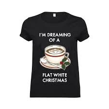 funny coffee flat white t shirt