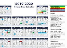 2019 2020 School Year Calendar Georgetown County School