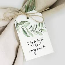 Bliss Collections Greenery Favor Thank You Tags — Perfect for: Wedding  Favors, Baby Shower, Bridal Shower, Birthday Or Special Event — 50 Pack:  Amazon.com.au: Toys & Games