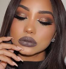 prom makeup black women makeup tips for dark skin copper eyes lip makeup