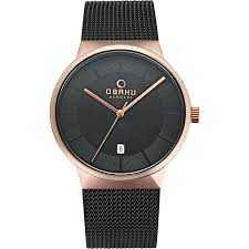 rose gold watches for men obaku men s watches in rose gold from obaku cool dress watches in many different colors simple clean and elegant designs that will not go out of fashion in