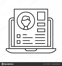 Envelope For Resume Laptop And Envelope With Resume Letter Stock Vector