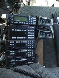 motorola spectra introductory information k6ccc s truck control group looking down at the console from head height from the top is a mcs2000 on 900 mhz the shop radio a syntor x9000 on 800