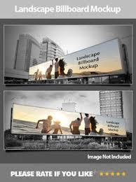 landscape billboard mockup by avant studio on graphicriver a simple step to create a landscape billboard mockup