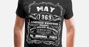 men s premium t shirtborn in may 1969 50th birthday gift ideas