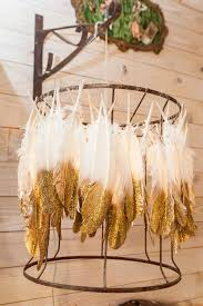 beginner gold tipped feather lampshade