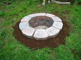 paver fire pit kit outdoor fire pit insert cement block fireplace concrete brick fire pit cinder