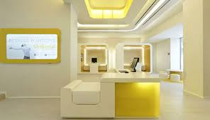 office room colors. Luxurious Office Room Design With Peaceful Colors, Soft Yellow And Off White Color Makes Colors