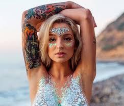 with gemstones festival makeup look