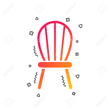 Icon Design Furniture Chair Sign Icon Modern Furniture Symbol Colorful Geometric