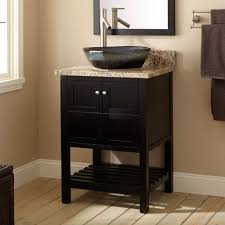 24 everett vessel sink vanity black console bathroom