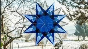 Weihnachtsstern Aus Transparentpapier Basteln Blau