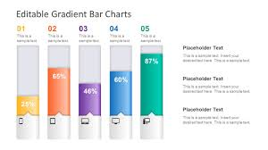 Powerpoint Charts Diagrams Ceo Pack Editable Gradient Bar Chart For Powerpoint