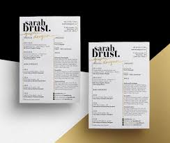 resume designs slick personal branding how design sarabrust3