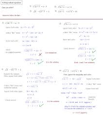 solving radical equations 2 algebra