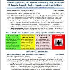 Information Security Resume Examples Sugarflesh