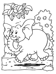 Kleurplaat Just Kiddin Elephant Coloring Page Animal Coloring