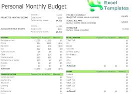 Personal Finance Excel Income Expenses Spreadsheet Template Excel And Personal