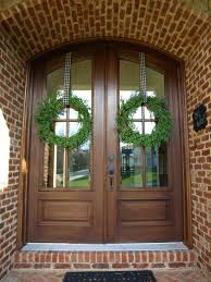 double front doors double door wreaths