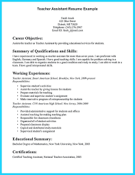 Teacher Assistant Resume template Administrative Assistant Cv Template Teaching Sample 24
