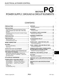 2011 nissan titan power supply ground circuit elements 2011 nissan titan power supply ground circuit elements section pg 77 pages