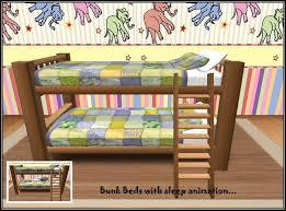 cartoon bunk bed. Bunk Beds Yellow Cover - Sleep Animation. Kids_bunk_bed_yellow_cover Cartoon Bed P