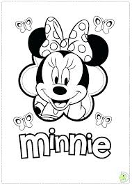 Disney Minnie Mouse Colouring Pages Free Printable Mouse Coloring