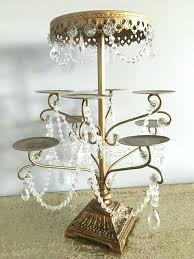crystal chandelier cupcake stand photo 7 of 7 crystal chandelier cupcake stand with gold thesecretconsul com crystal chandelier cupcake stand