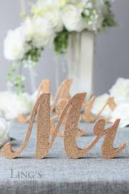 Bride Groom Table Decoration Glitter Mr And Mrs Letters Head Table Decorations Rose Gold Mr