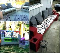 cinderblock furniture. Interesting Furniture Concrete Block Furniture Cinder Ideas For Backyard Bench  For Cinderblock Furniture I