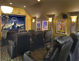 small media room ideas. Terrific Small Media Room Ideas Make Shared Space For Family Using Black Leather Seating Also Antique L