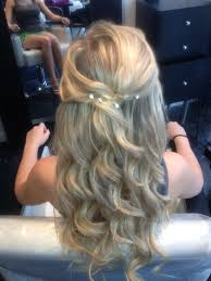 image of curly hair formal updos
