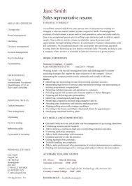 Sales Rep Resume Sample - Best Resume Example