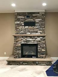 this old house gas fireplace gas fireplace insert with cultured stone veneer and stamped concrete raised