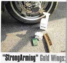 goldwing cleanup with strongarm brand fluid is essentianl