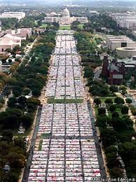AIDS Quilt To Be Stored In Atlanta / AIDS Quilt Moving East ... & Seen from the Washington Monument, the AIDS Memorial Quilt covered the Mall  in 1996. Adamdwight.com
