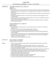 Architectural Assistant Resume Samples Velvet Jobs