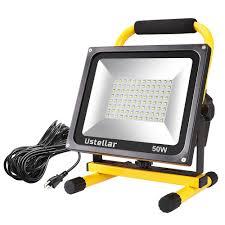 ustellar 4500lm 50w led work light 400w equivalent 2 brightness levels waterproof