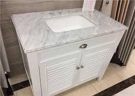22 x 37 carrera marble bathroom countertops high polish with rectangle cutout