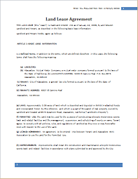 Agreement In Word Awesome Land Lease Agreement Template For WORD Document Hub