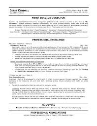 Resume Examples, Service Director Professional Excellence Eduation  Professional Associations Resume Templates Food Service Area Of