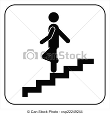 down stairs clipart. Unique Down Man On Stairs Going Down Symbol  Csp22249244 Inside Down Clipart T