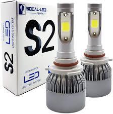 9005 Led Light Kit Socal Led 2x S2 Automotive Hb3 9005 Led Headlight Bulbs Conversion Kit Bright 72w Cob Chip 6000k Xenon White