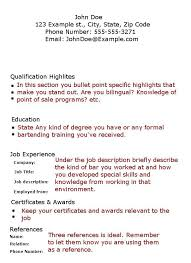 Waitress Resume Sample Skills Bartender Resume No Experience Template Resume  Examples Skills And Abilities Section