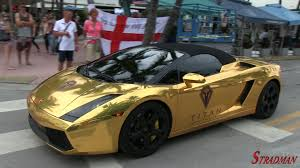 lamborghini gallardo in gold